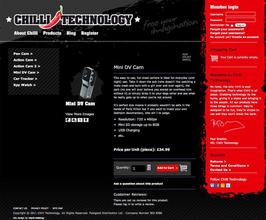 Chilli Technology website - Archive - mark-making*