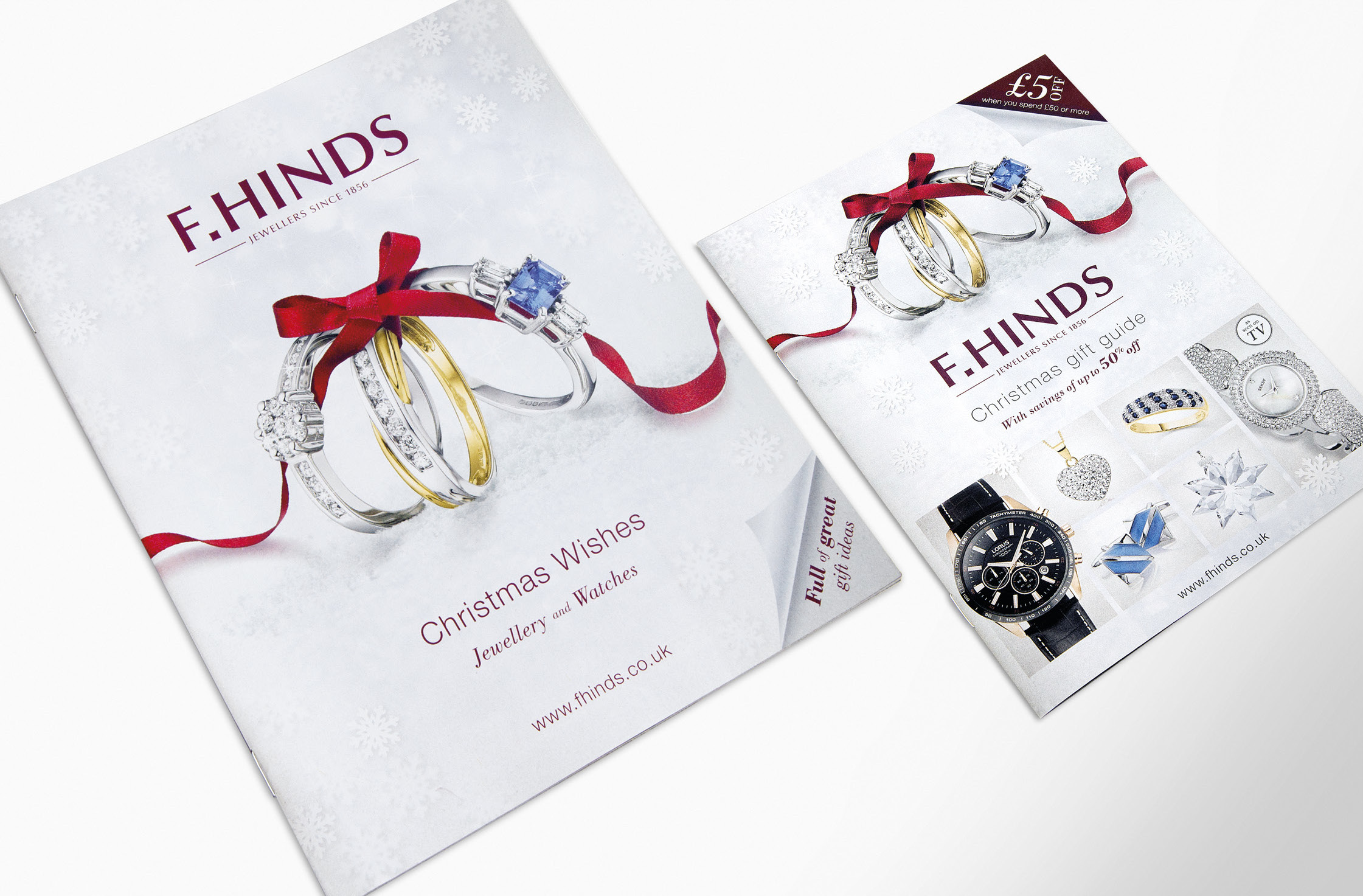 F.Hinds Christmas 2013 brochure and A5 insert - mark-making*