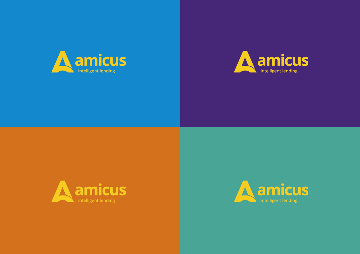 Blue, purple, orange, green - the Amicus colour palette