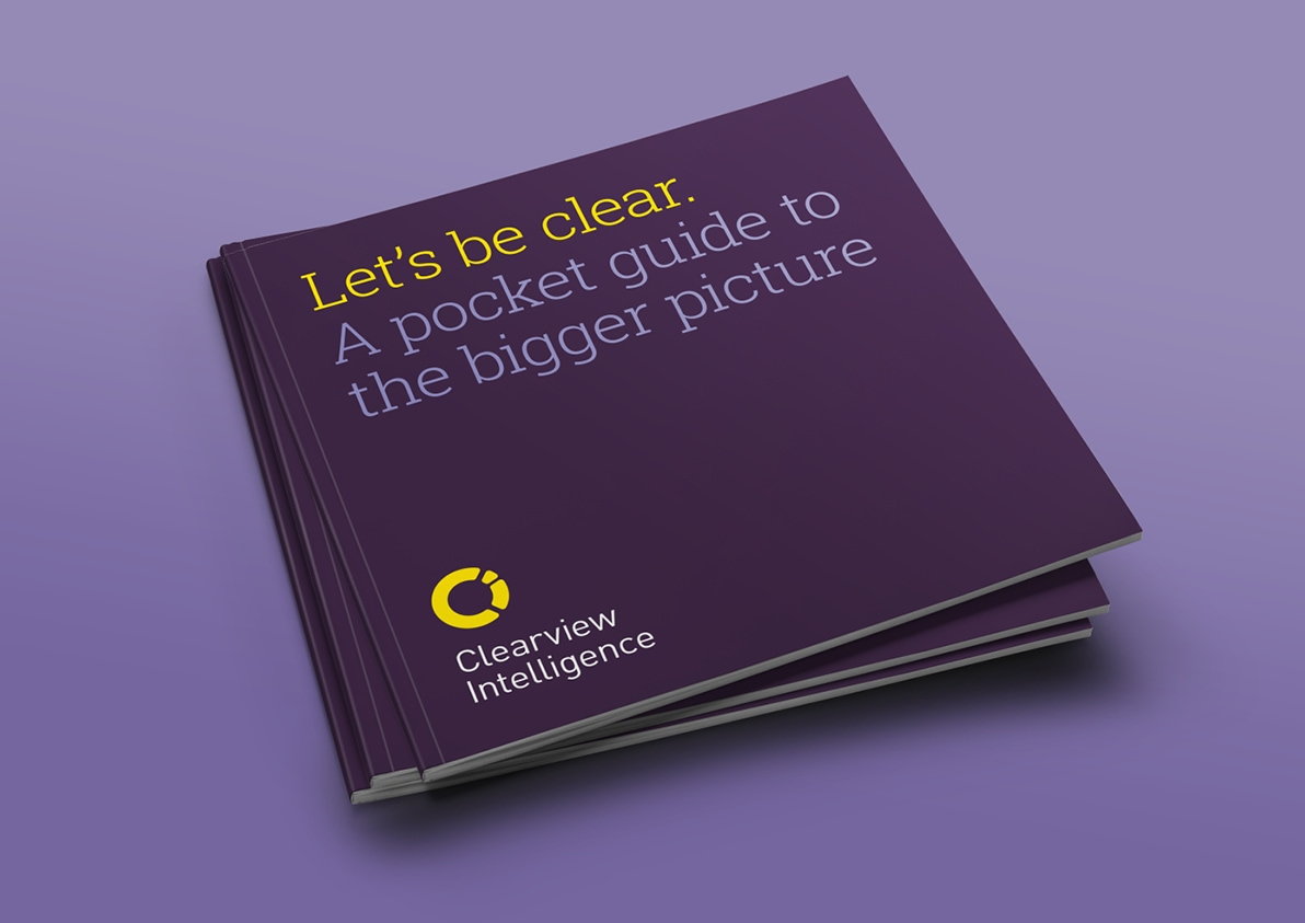 Clearview Intelligence brand book cover