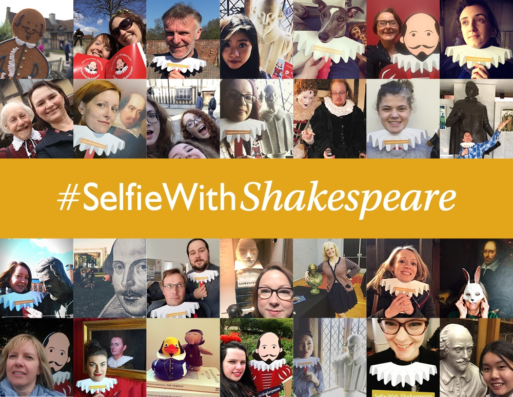 Shakespeare selfie collage